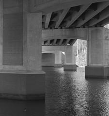 Under the Bridge B&W (podolux) Tags: bridge blackandwhite bw water river virginia blackwhite nikon bridges va duotone nikkor 18200 2010 underthebridge occoquan princewilliamcounty princewilliamco underneaththebridge nikkor18200vr d80 occoquanriver february2010