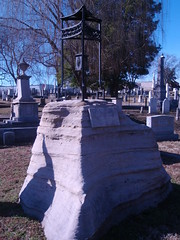 boulder headstone