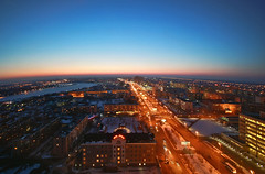 City lights (AgusValenz) Tags: sunset atardecer lights luces centralasia kazakhstan 1022mm eurasia atyrau kazajistan