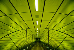 S1 Underground Station Hamburg Airport (difridi) Tags: abstract green lines architecture underground airport publictransportation geometry curves hamburg architektur s1 grn flughafen sbahn nonluoghi geometrie nonplace linien nonlieux difridi