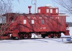 Wabash @ Lincoln Lake (PPWIII) Tags: railroad train michigan caboose wabash lincolnlake gowen