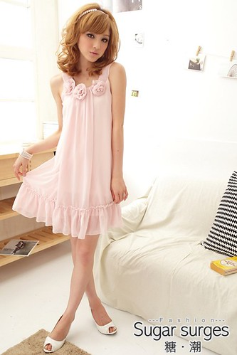 rosette chiffon dress 49 47