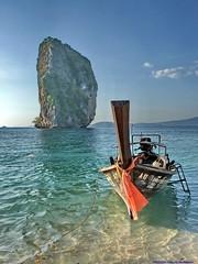 Koh Poda V (Paulo Kawai) Tags: thailand island boat long tail tailandia ko koh ilha krabi poda s200exr