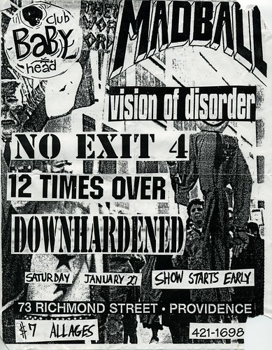 Madball / Vision of Disorder - Club Babyhead- Flier