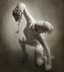 Self-Preservation (Leah Johnston) Tags: death zombie leah fineart wrap reach portfolio mummy crawl preserve johnston mummification selfpreservation egyptianmummy leahjohnston