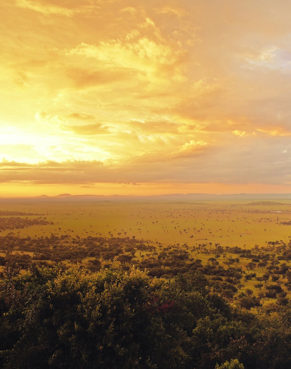 Sunset in the Singita Grumeti Reserves.