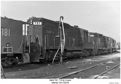 N&W 797, 775 & 2 more (Robert W. Thomson) Tags: railroad atlanta train georgia nw diesel railway trains locomotive trainengine scl norfolkwestern ln geep alco seaboardcoastline emd gp9 louisvillenashville fouraxle
