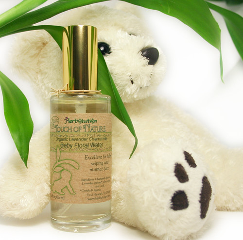 Organic Baby Floral Water Lavender Chamomile soothing wiping spray from Touch of Nature series