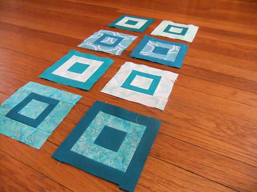 Paintbox quilt a long turquoise