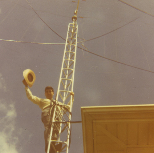 W2QXR - 1969-71-The Quad Antenna @ Clarion, PA