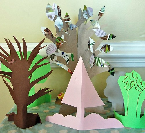 paper Easter forest