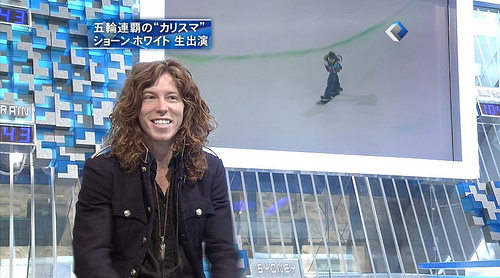 Shaun White during 2010 Olympics
