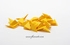 Yellow Origami Isolated