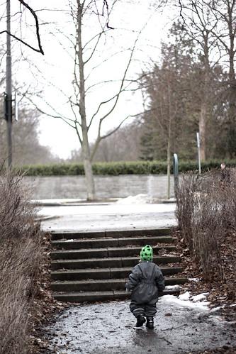 Den lille och trappan