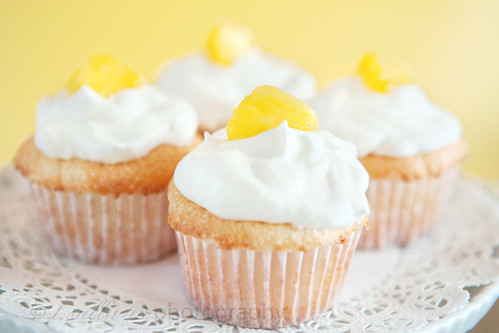 Pineapple Angel Food Cupcakes