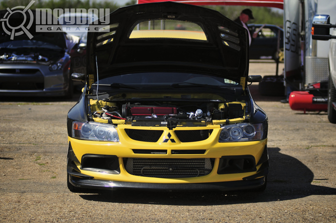 An EVO 8 with go fast goodies
