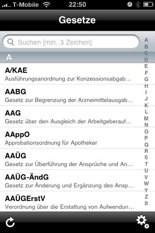 Gesetze Im Internet Als Iphone App Ralfzoselde