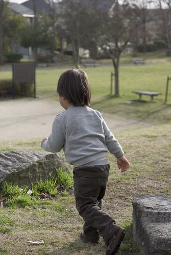 息子はさっそく走り出しました。