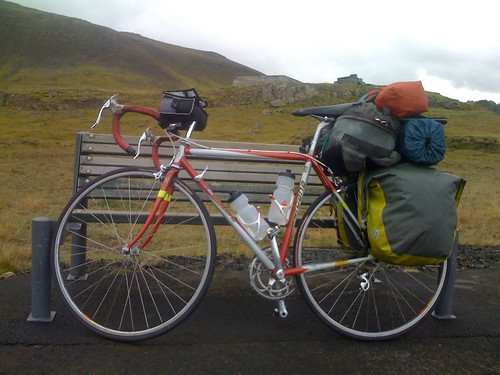 bike all ready to rumble across iceland