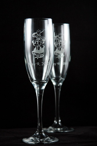 Get your Champagne Flute set today Perfect for wedding and anniversary