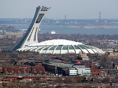 Something doesn't appear to belong in this shot.... (zJMac) Tags: roof skyline canon downtown day suspension quebec stadium montreal royal clear mount olympic placement 1976 retractable domed zjmac