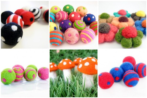 Felt Beads Collage