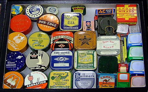 Vintage Typewriter Ribbon Cases