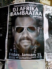 event poster:  Afrika Bambaataa