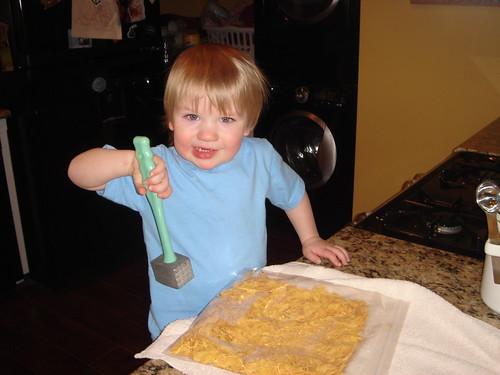 crushing cornflakes
