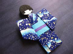 Origami Paper Doll - Aoi (umeorigami) Tags: japan japanese origami doll yukata kimono paperdoll washi ningyo chiyogami shioriningyo warabeningyo