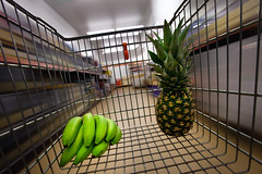 Day Eighty Five (Roland Polczer - www.rolandpolczer.de) Tags: motion blur shop fruit germany wideangle x banana pineapple rush ananas rivera aldi 1740l project365 5dmarkii 5d2 3652010 2010365