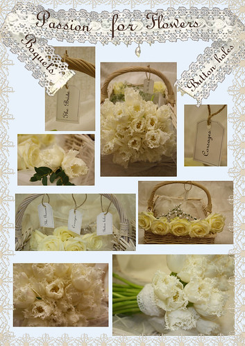 Vintage theme wedding Bouquets and Button holes by Passion for Flowers