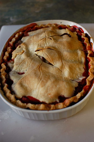 strawberry rhubarb pie II