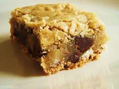 chewy chunky blondies with chocolate chips, coconut, walnuts - 14