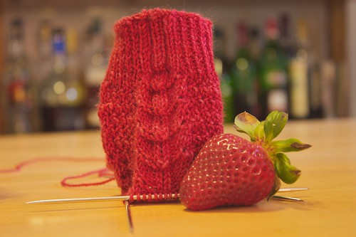 Child's French Sock with strawberry