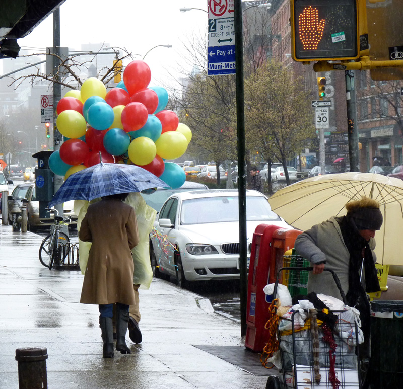 Balloons and Umbrellas