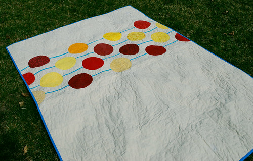 quilt on the grass