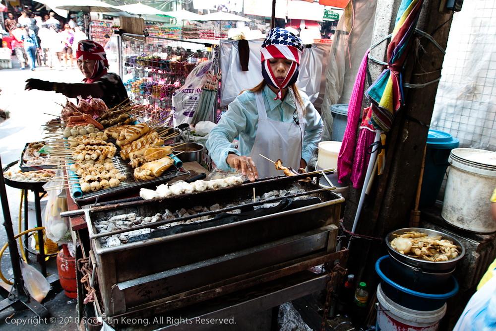 Seafood Satay Vendor @ ChinaTown, Bangkok, Thailand