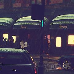 Ⓒ Waiting you.. (- M7D . S h R a T y) Tags: uk cold london rain harrods unitedkigdom wordsbyme london2010 ®allrightsreserved™