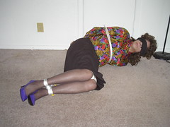 Multi Colored Blouse 2 (cameraman344) Tags: bondage did satin crossdresser