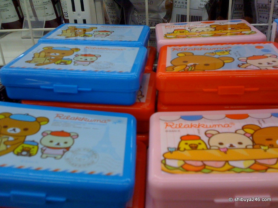 Rilakkuma has his own mini snack box at this Lawson store.