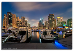 Cloudy Blue Hour - Dubai Marina (DanielKHC) Tags: blue night clouds marina boats interestingness high nikon long exposure dubai dynamic uae explore hour 13 range fp frontpage dri hdr d300 danielcheong danielkhc tokina1116mmf28 gettyimagesmeandafrica1