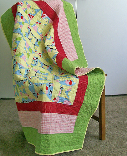 crib size pear quilt