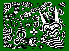 Doodle 1/1/2010 (Daily Doodles) Tags: wild blackandwhite plants abstract green art modern illustration pen ink cacti painting poster graffiti design sketch artwork 60s folkart outsiderart waves bright drawing mixedmedia abstractart contemporaryart contemporary vibrant modernart circles surrealism stripes vivid doodle zen 70s hippie surrealist meditation sharpie psychedelic wavy linedrawing surrealart artprint greenart colorfulart dailydoodles surrealistart zentangle doodledrawing