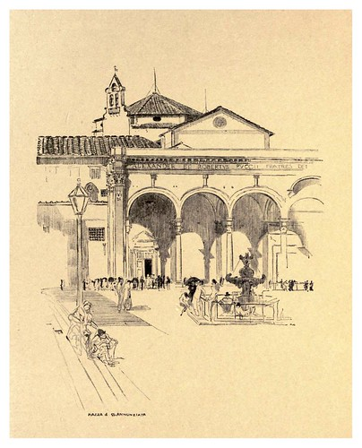 012-Plaza de Santa Annunziata-Florence  a sketch book (1914)- Richards Fred