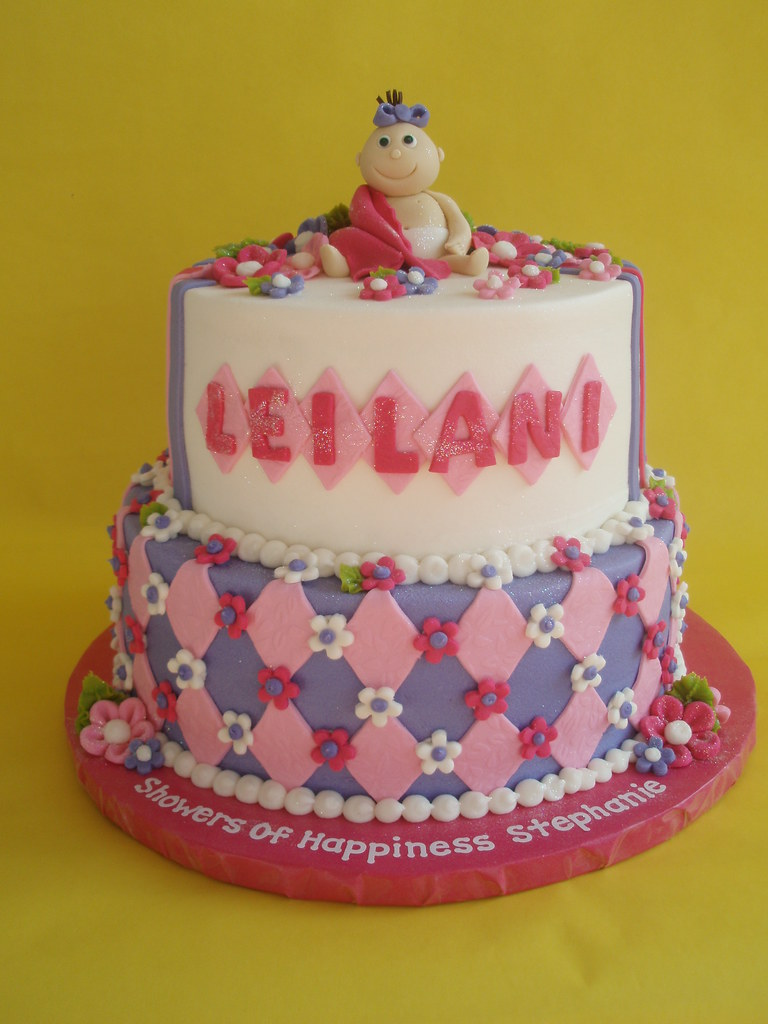 Pastels Baby Girl Shower Cake 2