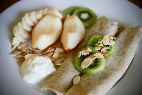 Buckwheat crepes, two ways