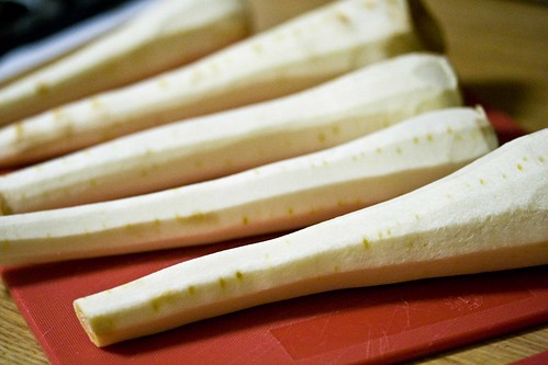 parsnips, peeled