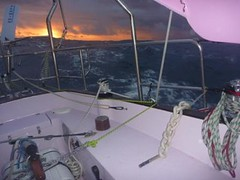 A moody sunset and the sky at the clearest it's been all day! (Jessica_Watson) Tags: world old out person sailing jessica year solo watson be sail around 16 non setting youngest unassisted jessicawatson nonunassisted
