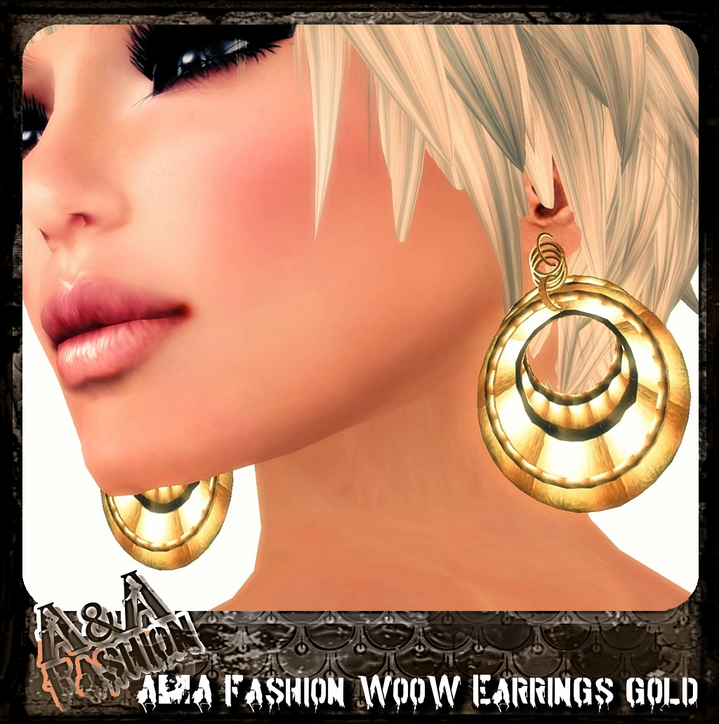 A&A Fashion WooW Earrings Gold